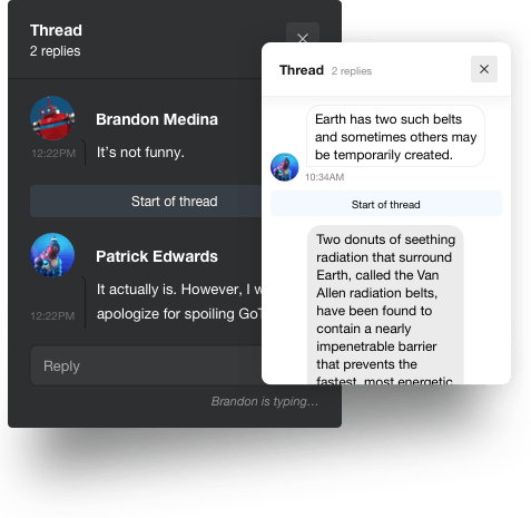 Chat Threads UI