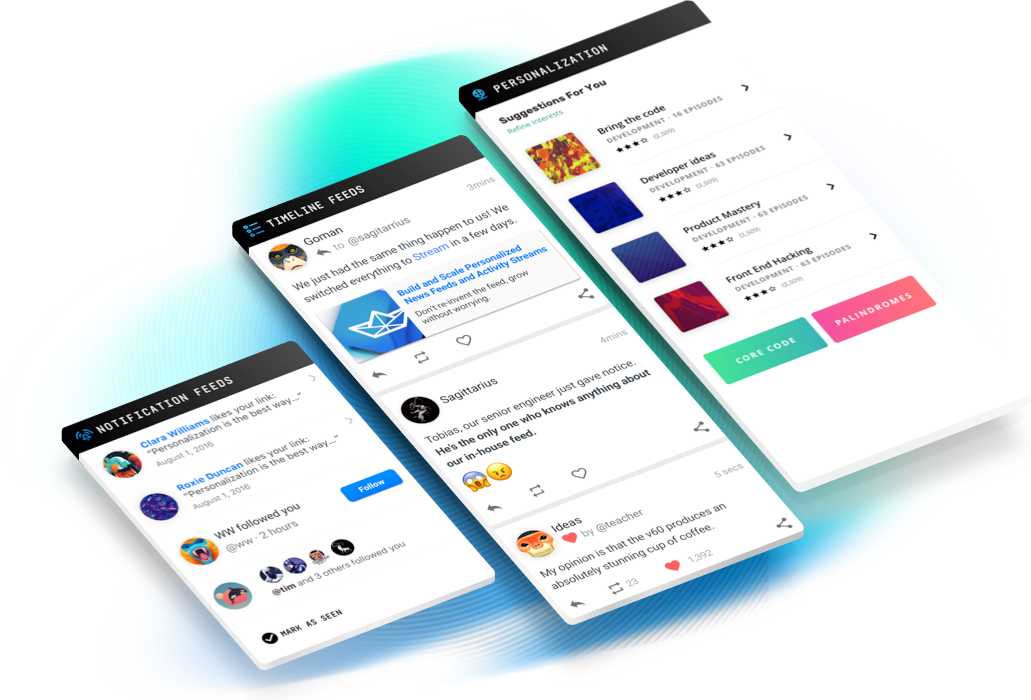 Build Scalable Feeds & Chat apps with powerful APIs and